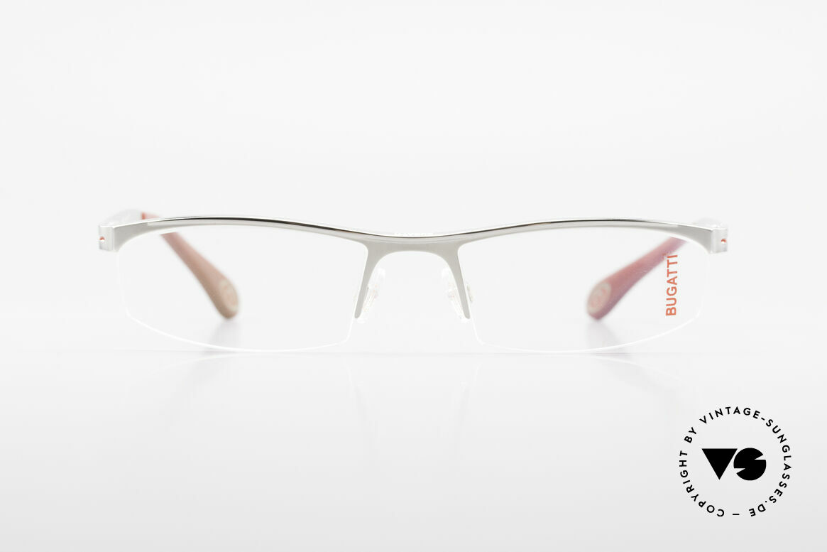 Bugatti 495 Luxury Palladium Frame Nylor, characteristical design of the Odotype Series, Made for Men