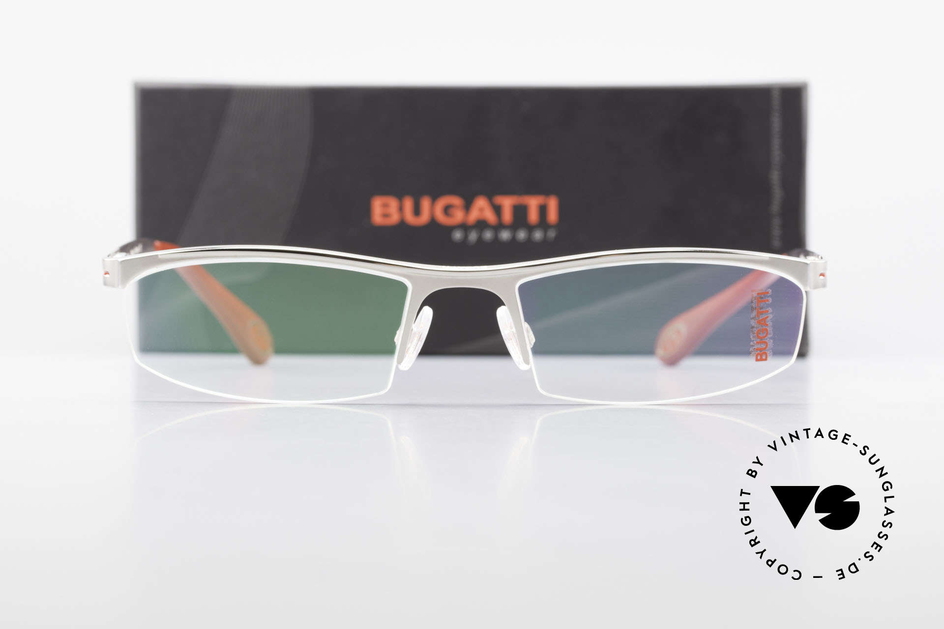 Bugatti 495 Luxury Palladium Frame Nylor, Size: large, Made for Men