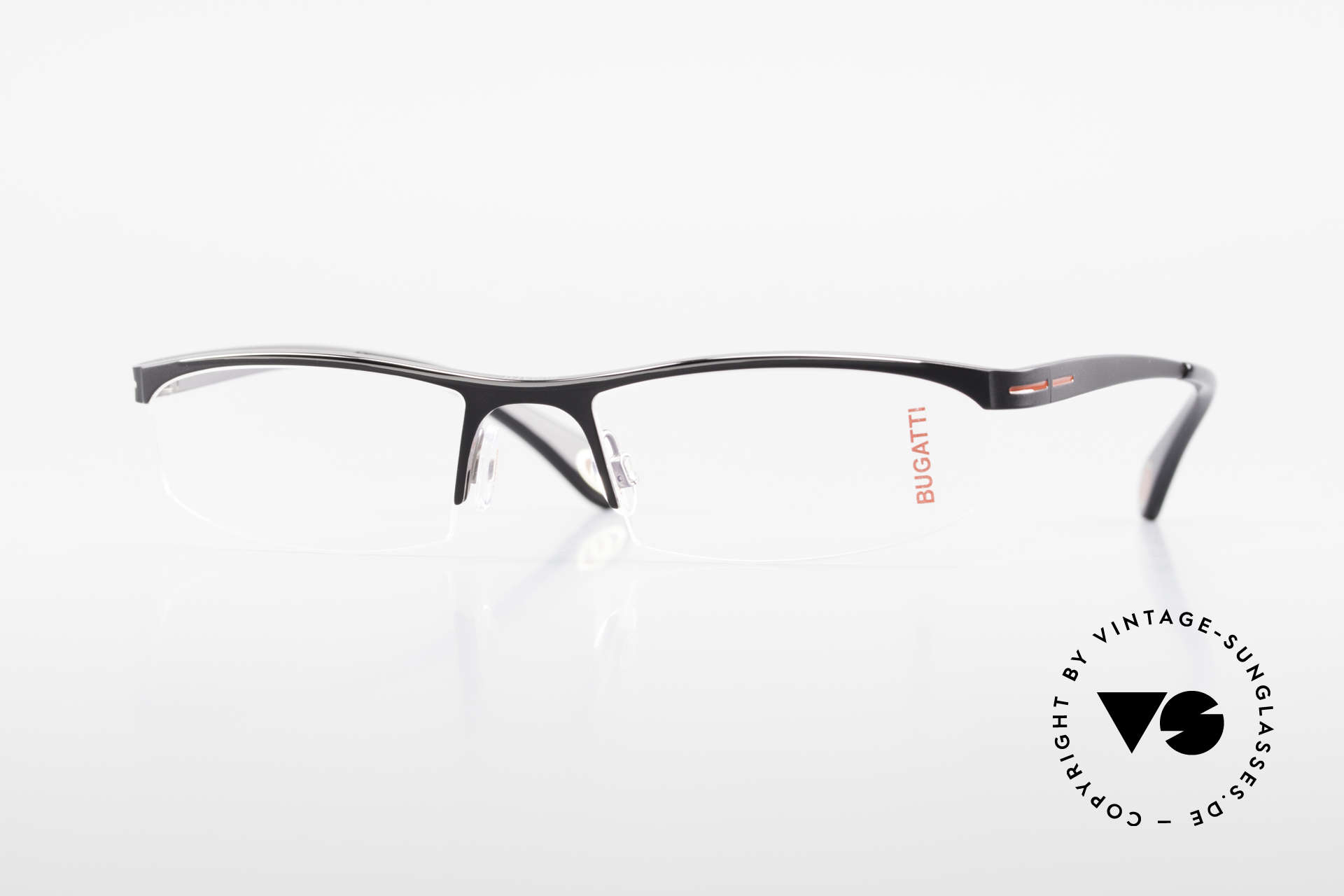 Bugatti 495 Luxury Nylor Frame Gentlemen, Bugatti glasses, model 495, 031, L, size 55/19, Made for Men