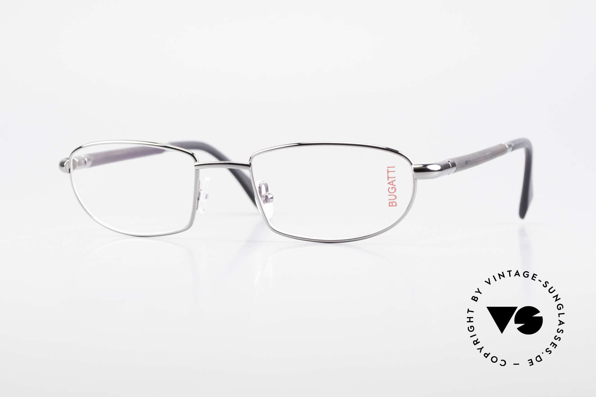 Bugatti 537 Genuine Horn Frame Ruthenium, luxury eyeglasses by BUGATTI, TOP-NOTCH quality, Made for Men