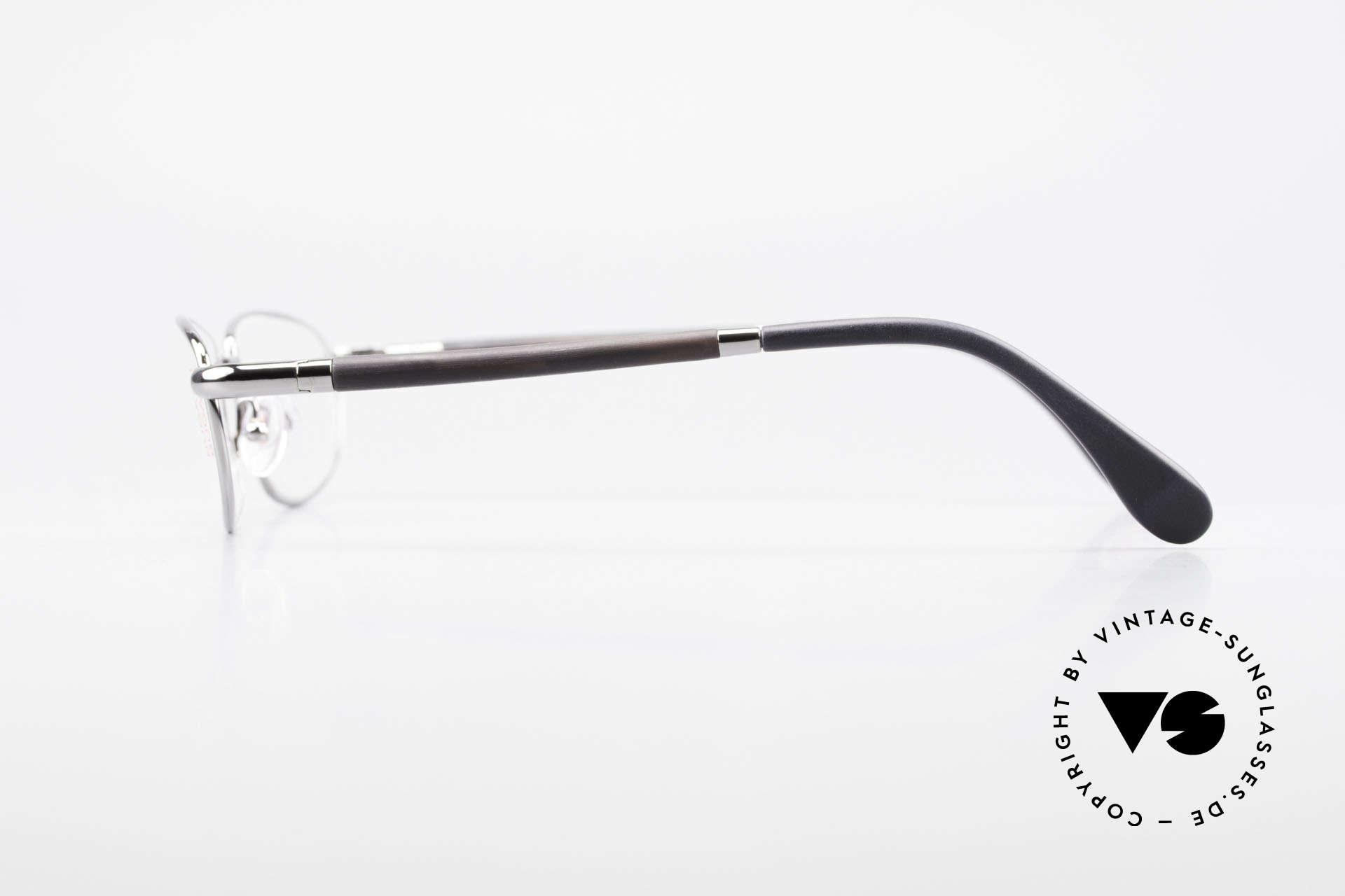 Bugatti 537 Genuine Horn Frame Ruthenium, LIMITED EDITION: 90's small batch series by Bugatti, Made for Men