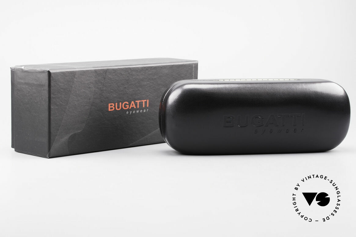 Bugatti 537 Genuine Horn Frame Ruthenium, Size: medium, Made for Men