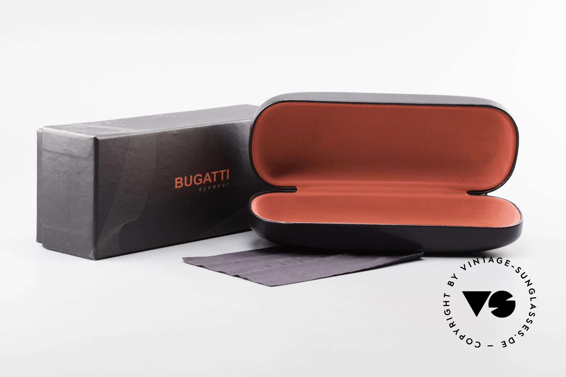 Bugatti 537 Genuine Horn Frame Ruthenium, Size: medium, Made for Men