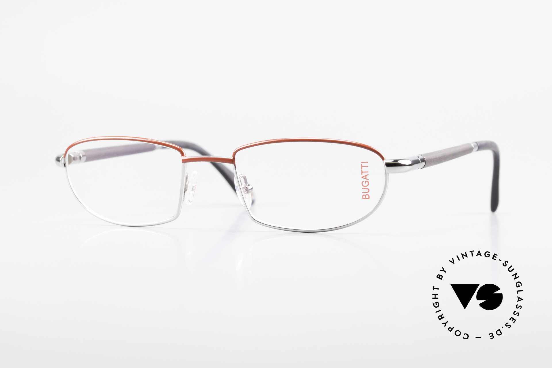 Bugatti 537 Genuine Horn Frame Palladium, luxury eyeglasses by BUGATTI, TOP-NOTCH quality, Made for Men