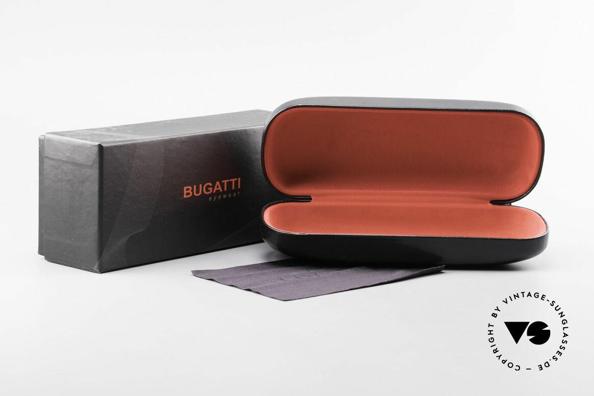 Bugatti 537 Genuine Horn Frame Palladium, Size: medium, Made for Men