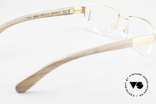 Bugatti 529 Wood Titanium Gold Plated XL, this model is definitely at the top of the eyewear sector, Made for Men