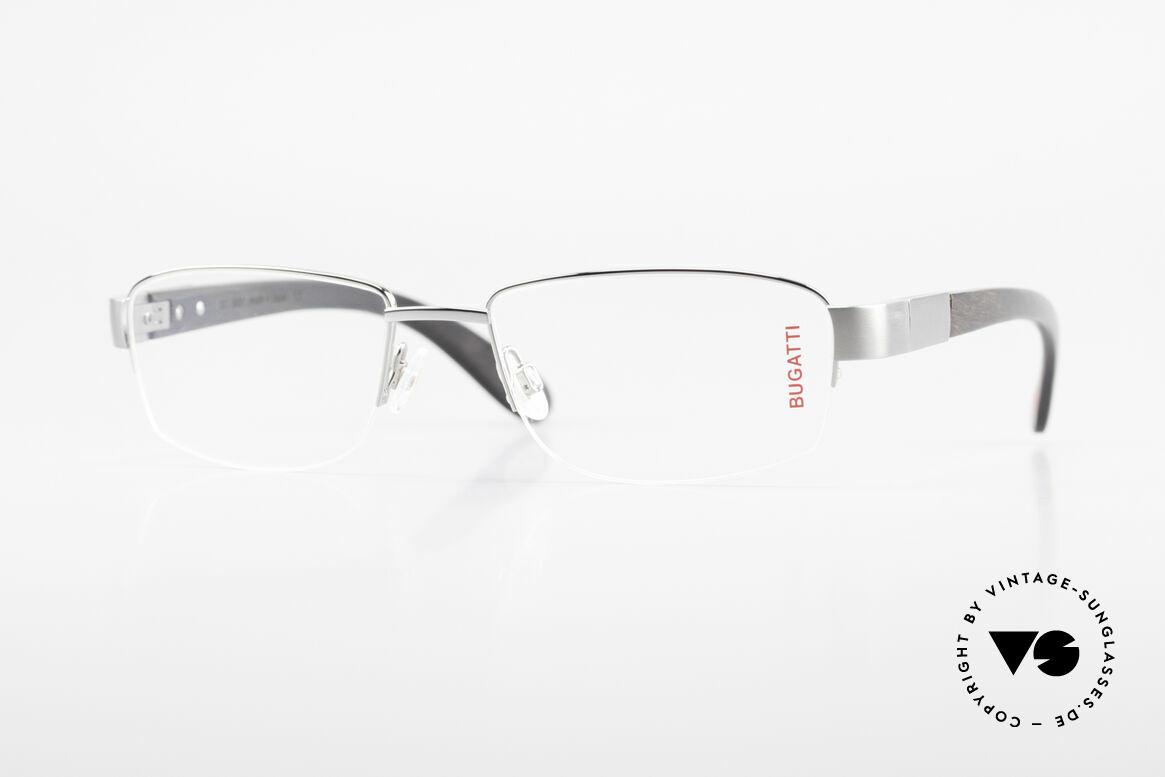 Bugatti 529 Ebony Titanium Ruthenium XL, luxury eyeglasses by BUGATTI, TOP-NOTCH quality, Made for Men