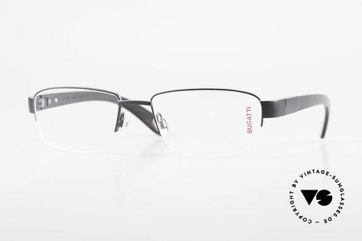 Bugatti 529 Ebony Titanium Eyeglasses XL Details