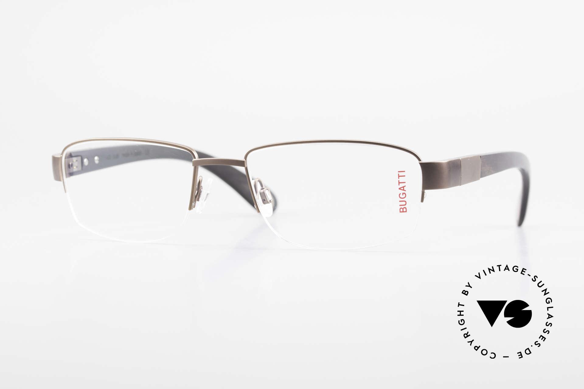 Bugatti 529 XL Ebony Titanium Eyeglasses, luxury eyeglasses by BUGATTI, TOP-NOTCH quality, Made for Men
