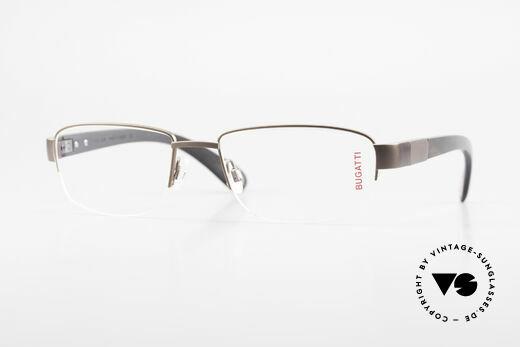 Bugatti 529 XL Ebony Titanium Eyeglasses Details