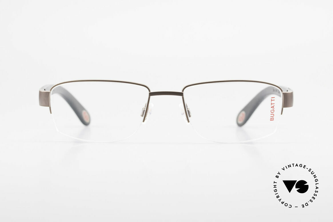 Bugatti 529 XL Ebony Titanium Eyeglasses, satin brown Titanium frame (in X-Large size 57/19), Made for Men