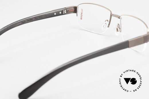 Bugatti 529 XL Ebony Titanium Eyeglasses, this model is definitely at the top of the eyewear sector, Made for Men