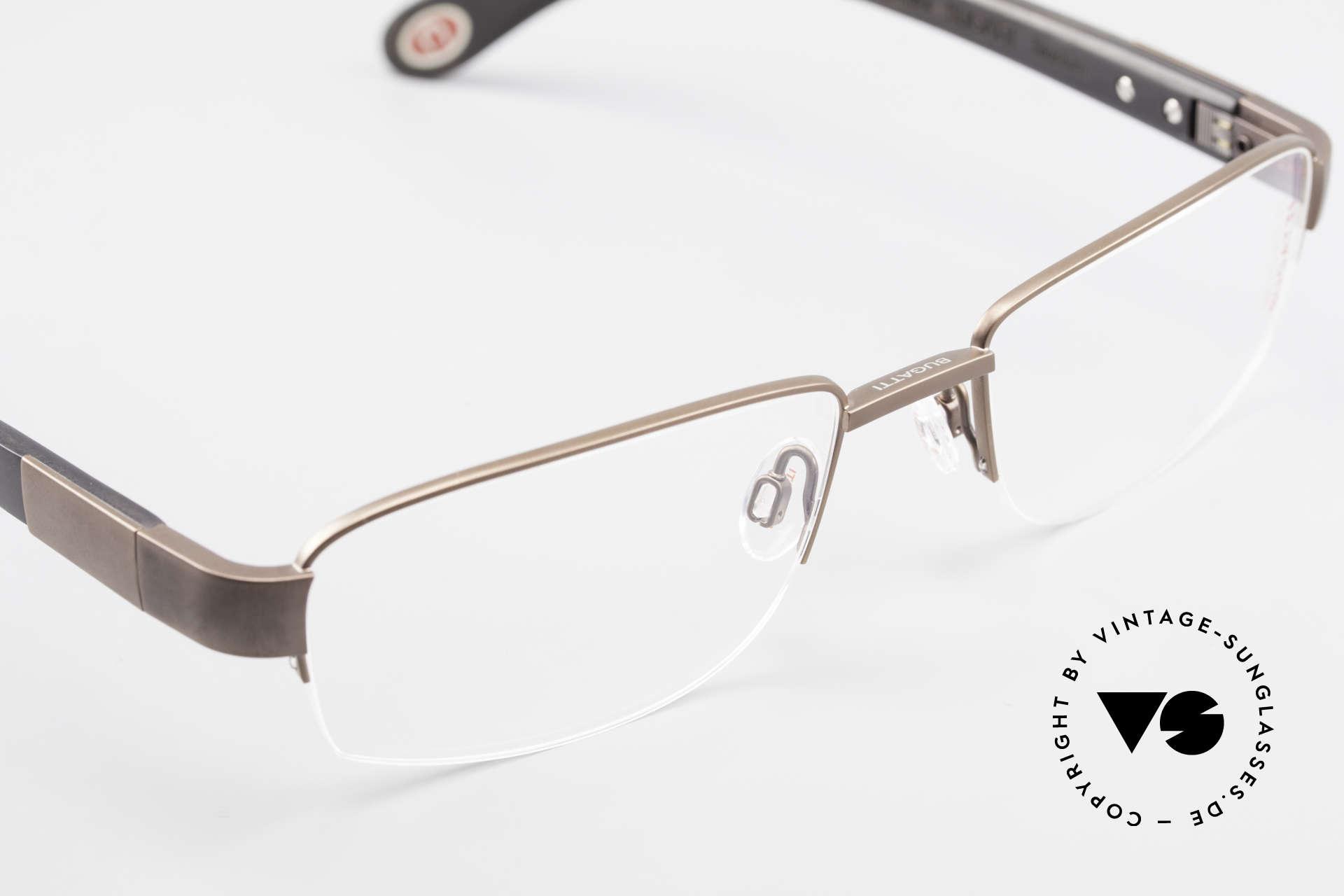 Bugatti 529 XL Ebony Titanium Eyeglasses, Size: large, Made for Men