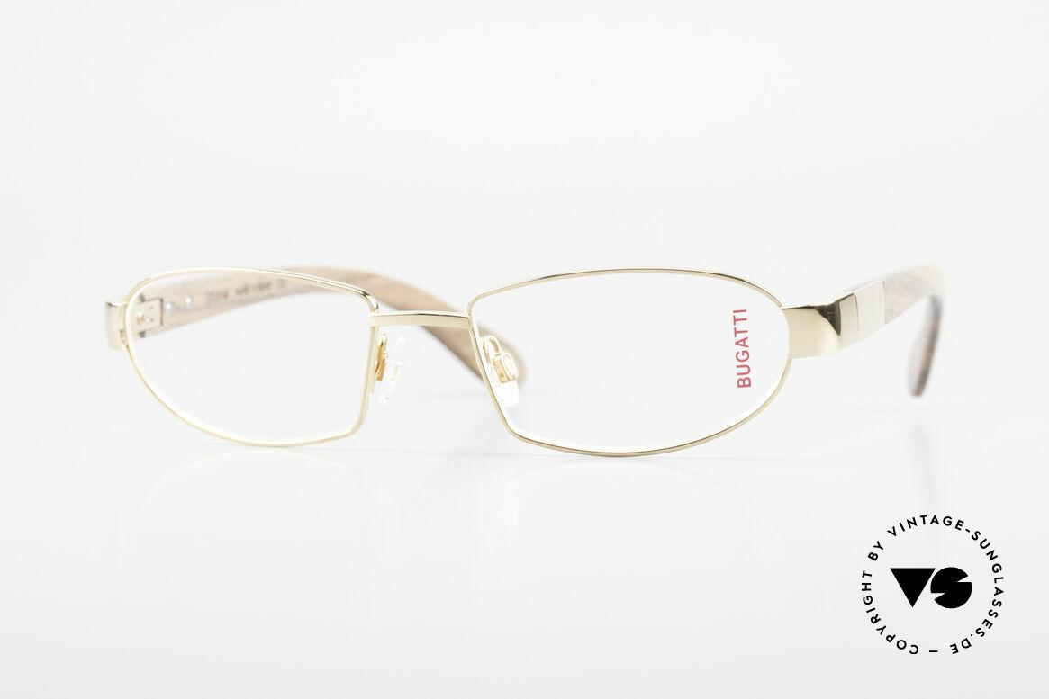Bugatti 530 Walnut Titanium Gold Plated, luxury eyeglasses by BUGATTI, TOP-NOTCH quality, Made for Men