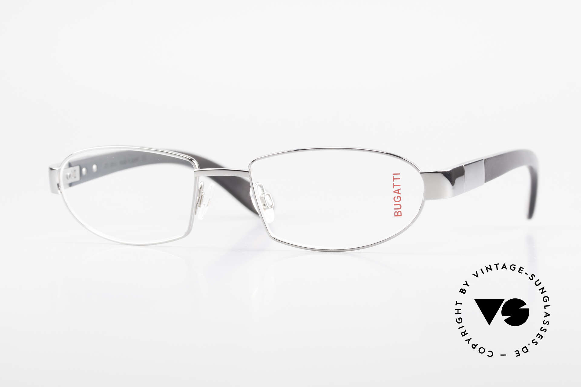 Bugatti 530 Ebony Titan Ruthenium Frame, luxury eyeglasses by BUGATTI, TOP-NOTCH quality, Made for Men