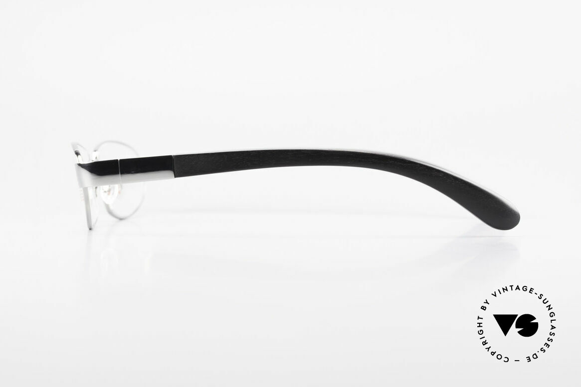 Bugatti 530 Ebony Titan Ruthenium Frame, flexible spring hinges for a 1st class wearing comfort, Made for Men