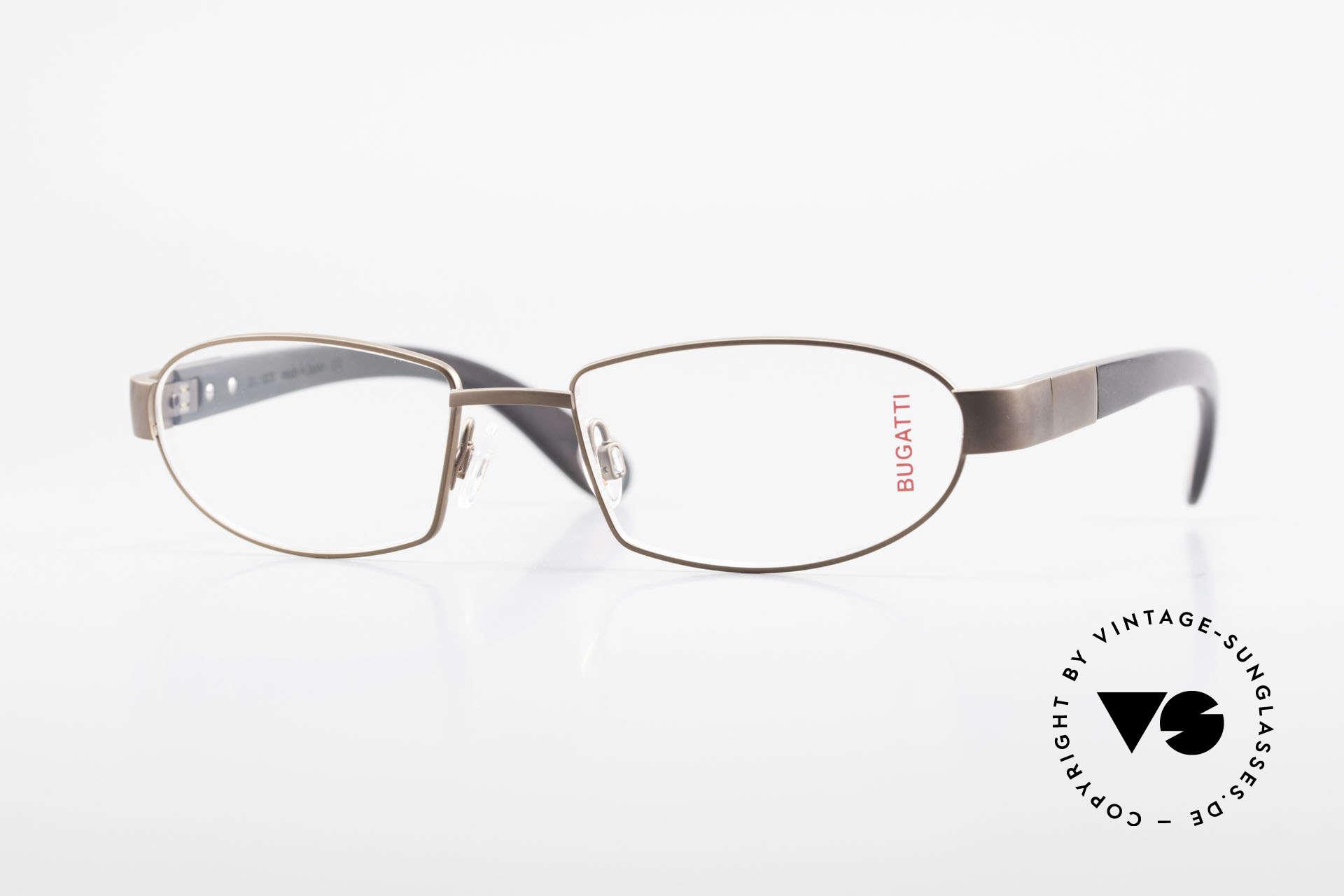 Bugatti 530 Ebony Wood Titanium Frame, luxury eyeglasses by BUGATTI, TOP-NOTCH quality, Made for Men