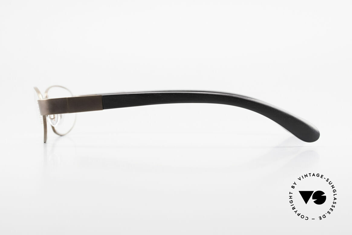 Bugatti 530 Ebony Wood Titanium Frame, flexible spring hinges for a 1st class wearing comfort, Made for Men