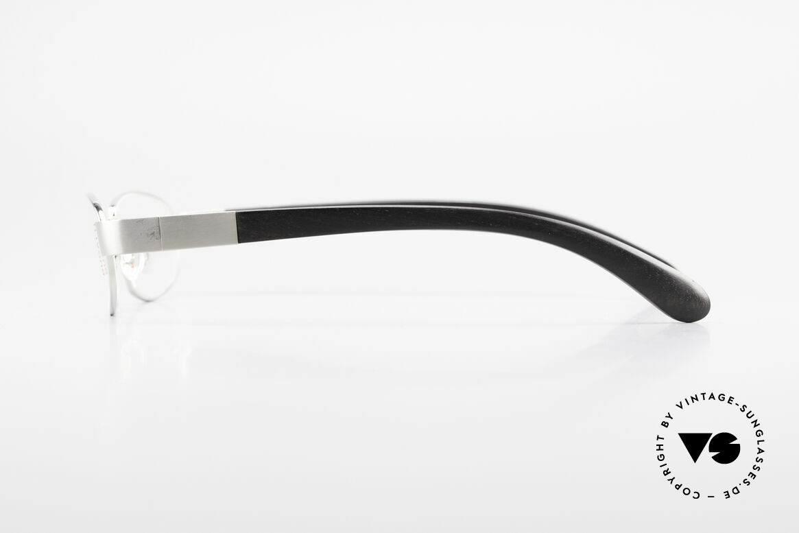 Bugatti 530 Ebony Titan Palladium Frame, flexible spring hinges for a 1st class wearing comfort, Made for Men