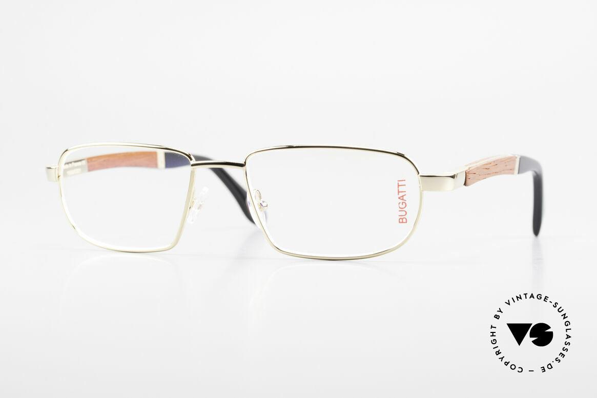 Bugatti 549 Precious Padouk Wood Gold, BUGATTI luxury eyeglasses of incredible top-quality, Made for Men