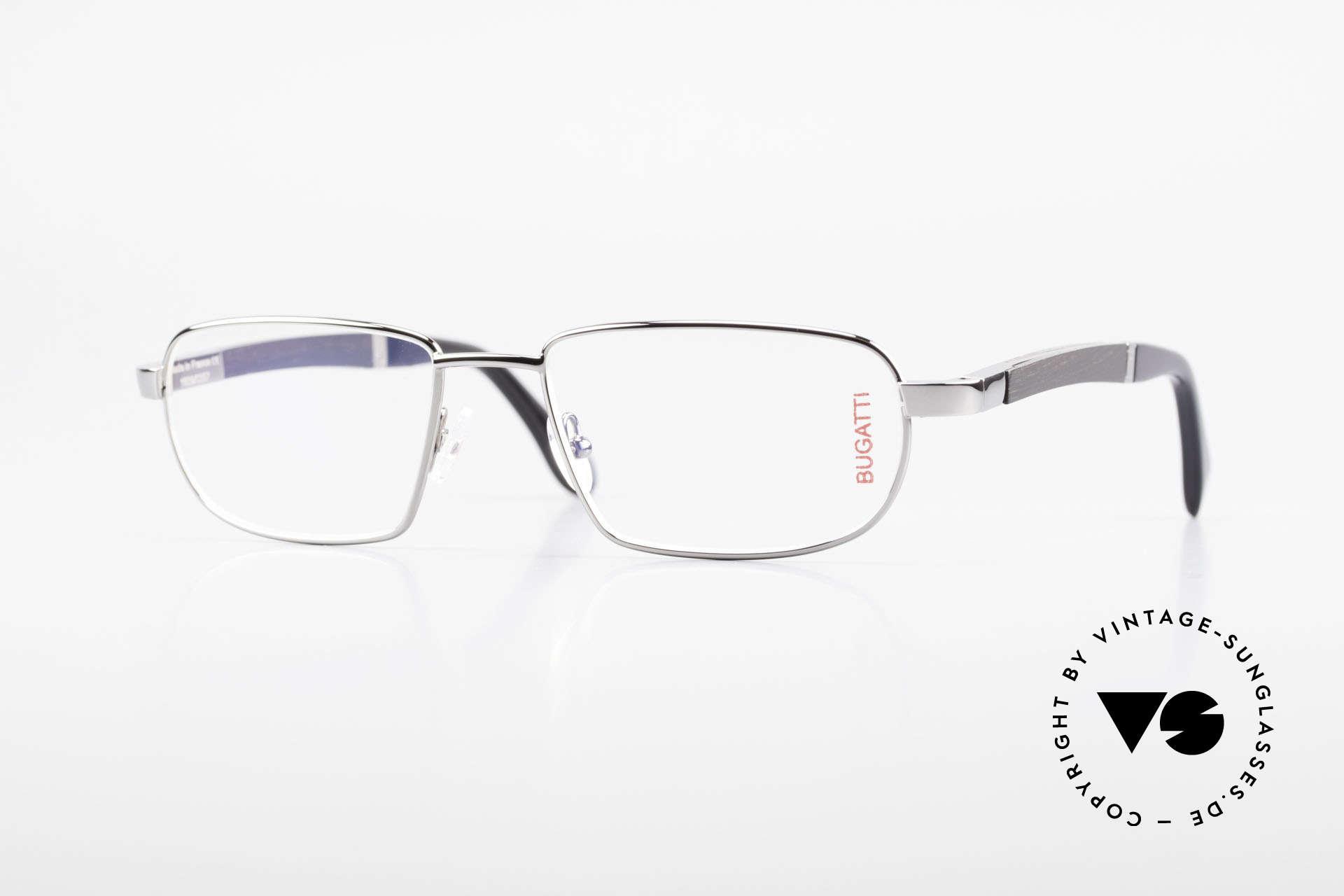 Bugatti 549 Ebony Wood Ruthenium Frame, BUGATTI luxury eyeglasses of incredible top-quality, Made for Men