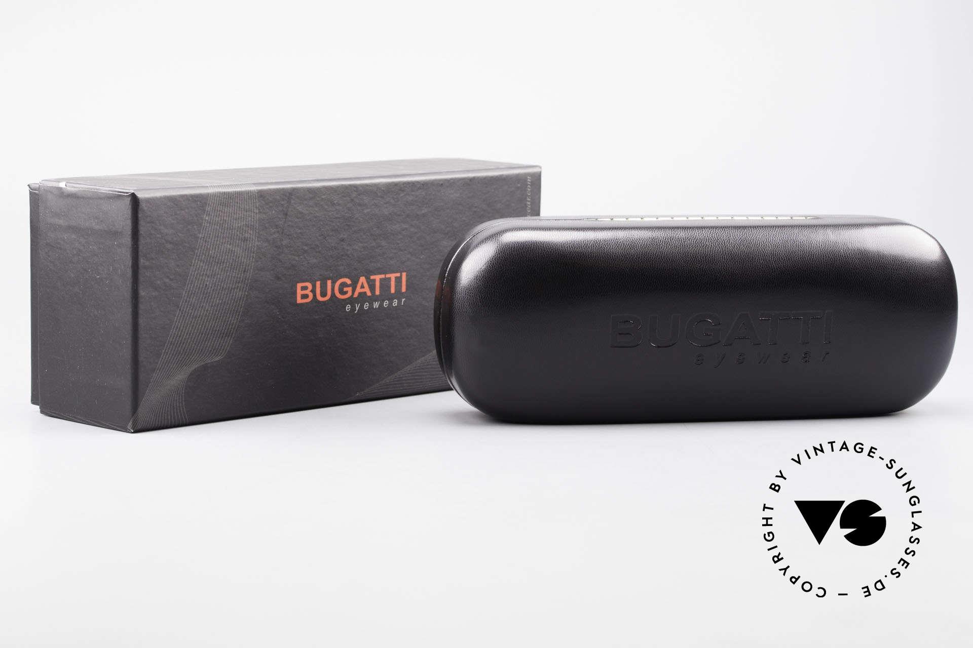 Bugatti 549 Ebony Wood Ruthenium Frame, Size: medium, Made for Men