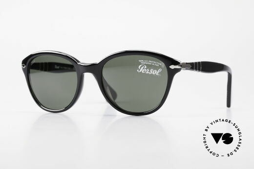 Persol 3025 Ladies Sunglasses Round Black Details