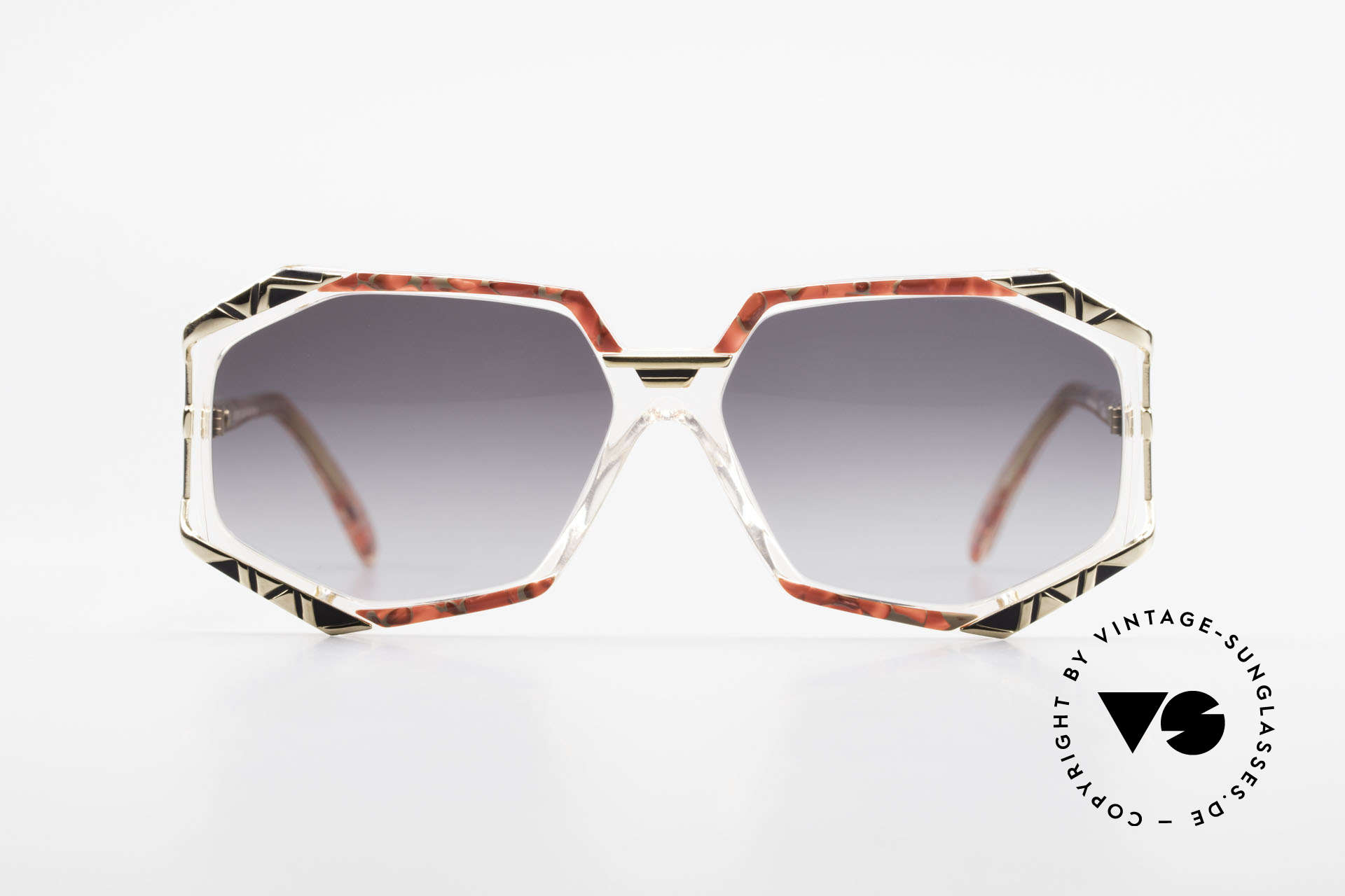 Cazal 355 Spectacular Cazal Sunglasses, distinctive combination of colors, shape and materials, Made for Women