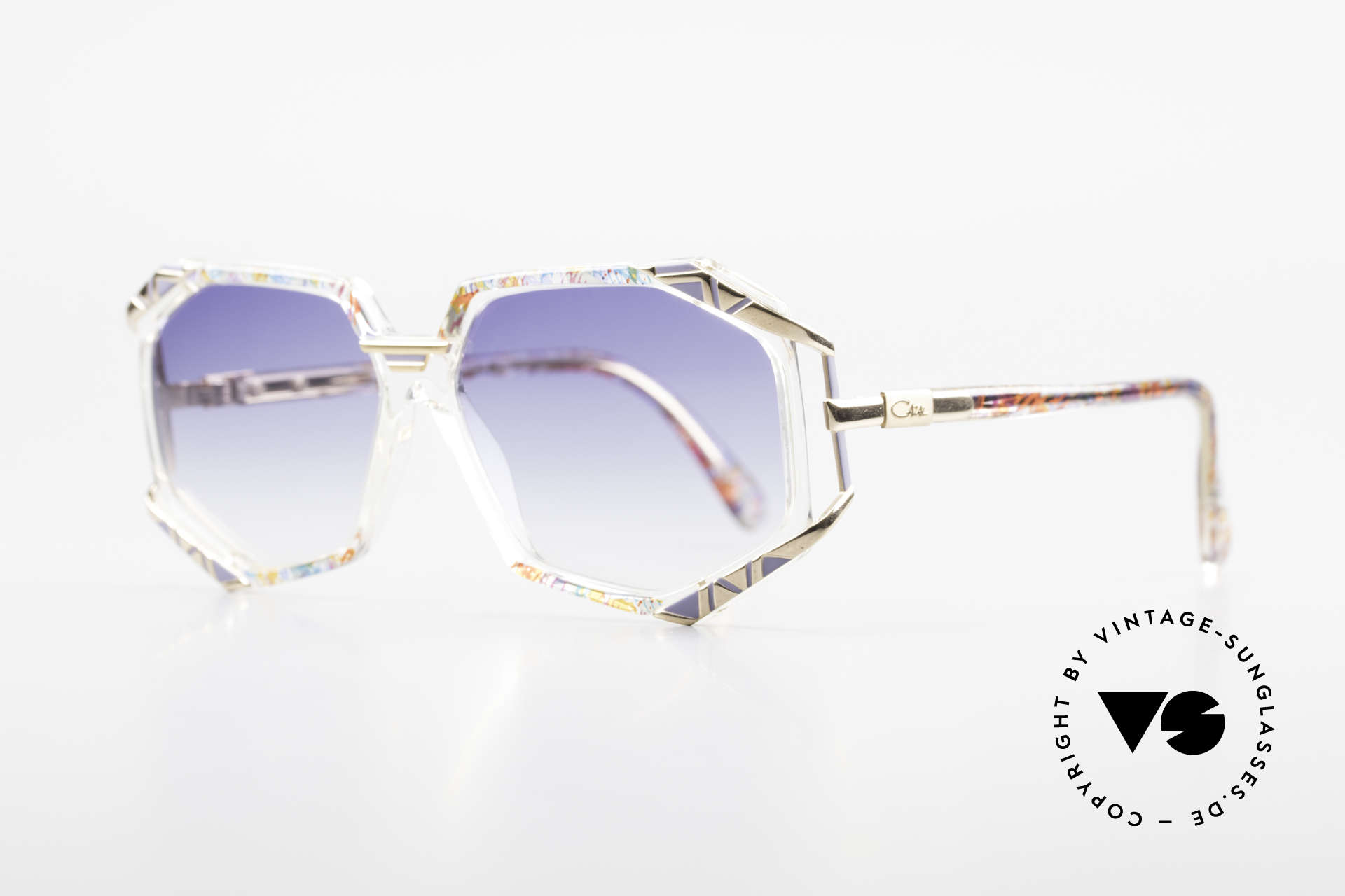 Cazal 355 Extraordinary Sunglasses 90's, terrific frame pattern by CAri ZALloni (check the pics!), Made for Women