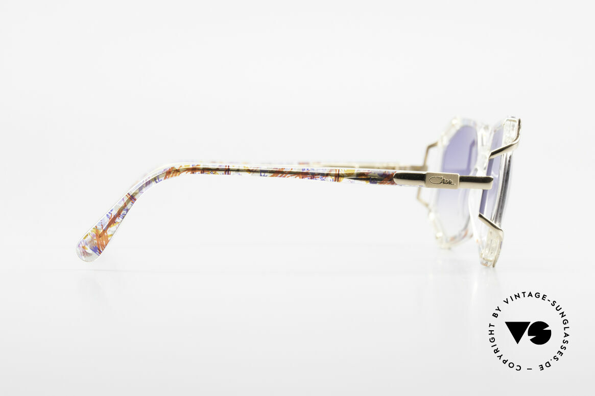 Cazal 355 Extraordinary Sunglasses 90's, frame width 120mm = tight fit (for SMALL heads only!), Made for Women
