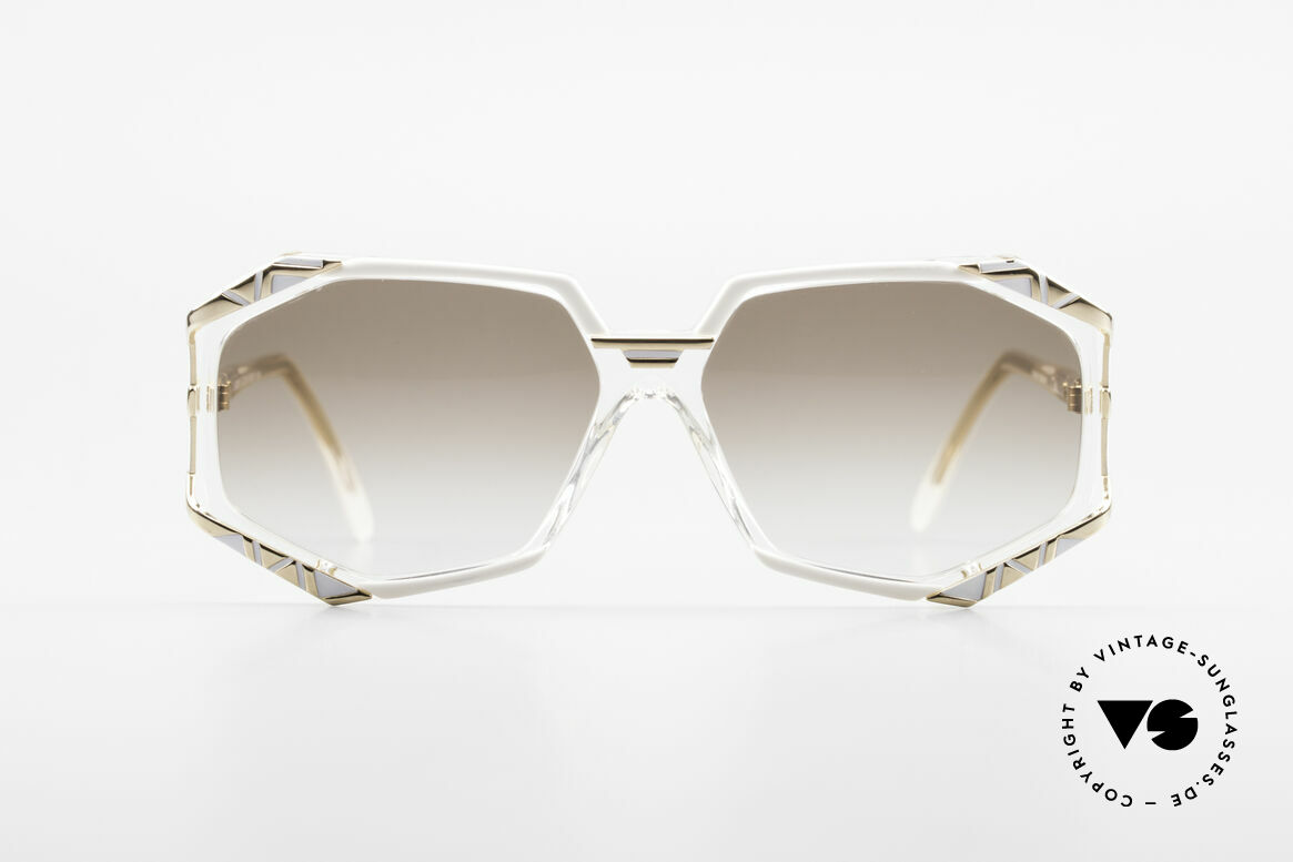 Cazal 355 Spectacular 90s Vintage Cazal, distinctive combination of colors, shape and materials, Made for Women