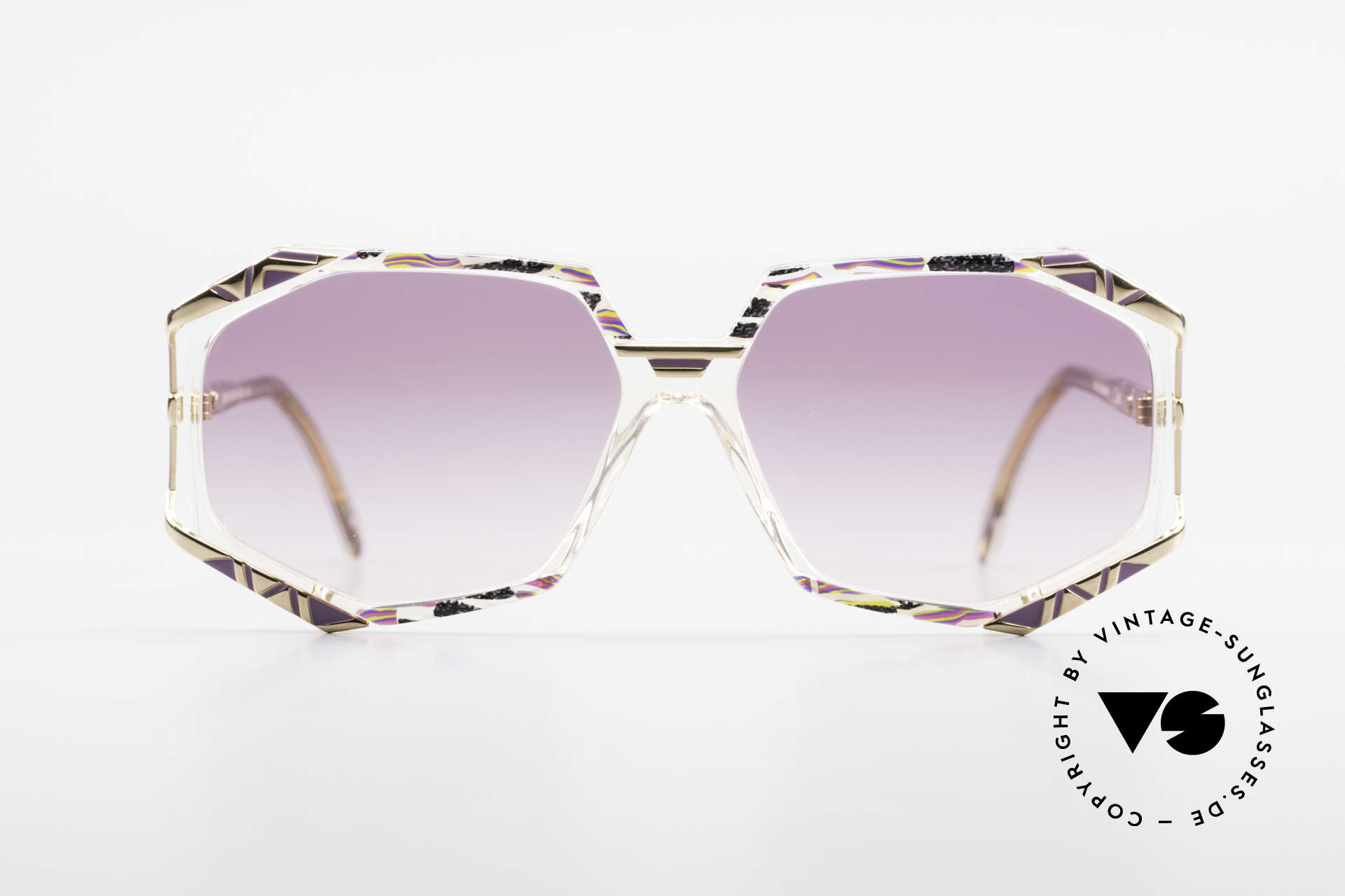 Cazal 355 Extraordinary 90's Cazal Frame, distinctive combination of colors, shape and materials, Made for Women