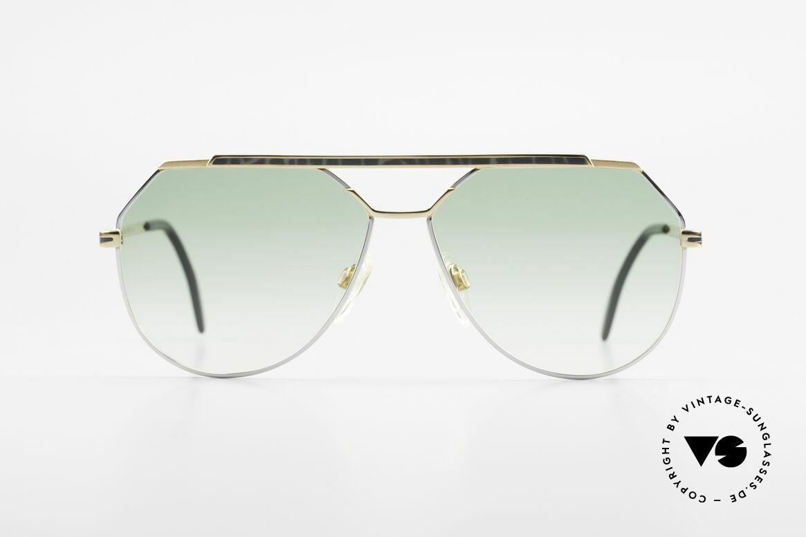 "Cazal 733 Gold Plated 80's Sunglasses, delicate double bridge & ""aviator"" design (truly 80's), Made for Men"