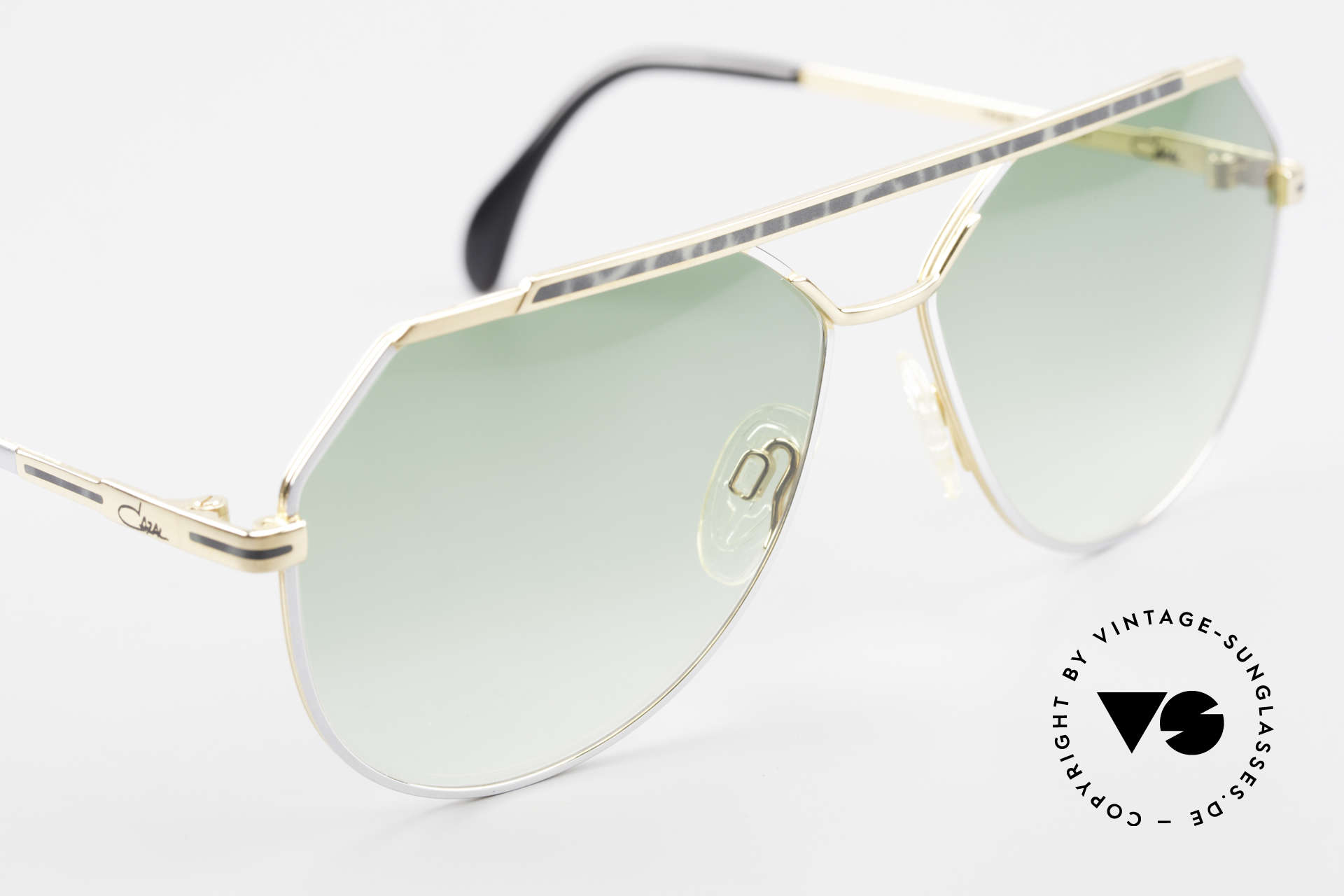 Cazal 733 Gold Plated 80's Sunglasses, NO RETRO shades, but an old 'W.Germany' original, Made for Men