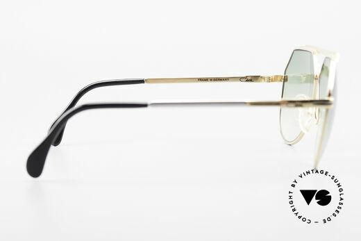Cazal 733 Gold Plated 80's Sunglasses, green-gradient sun lenses (for 100% UV protection), Made for Men