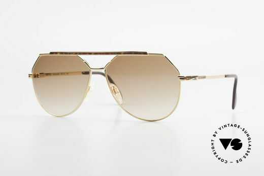 Cazal 733 80's Men's Aviator Sunglasses Details