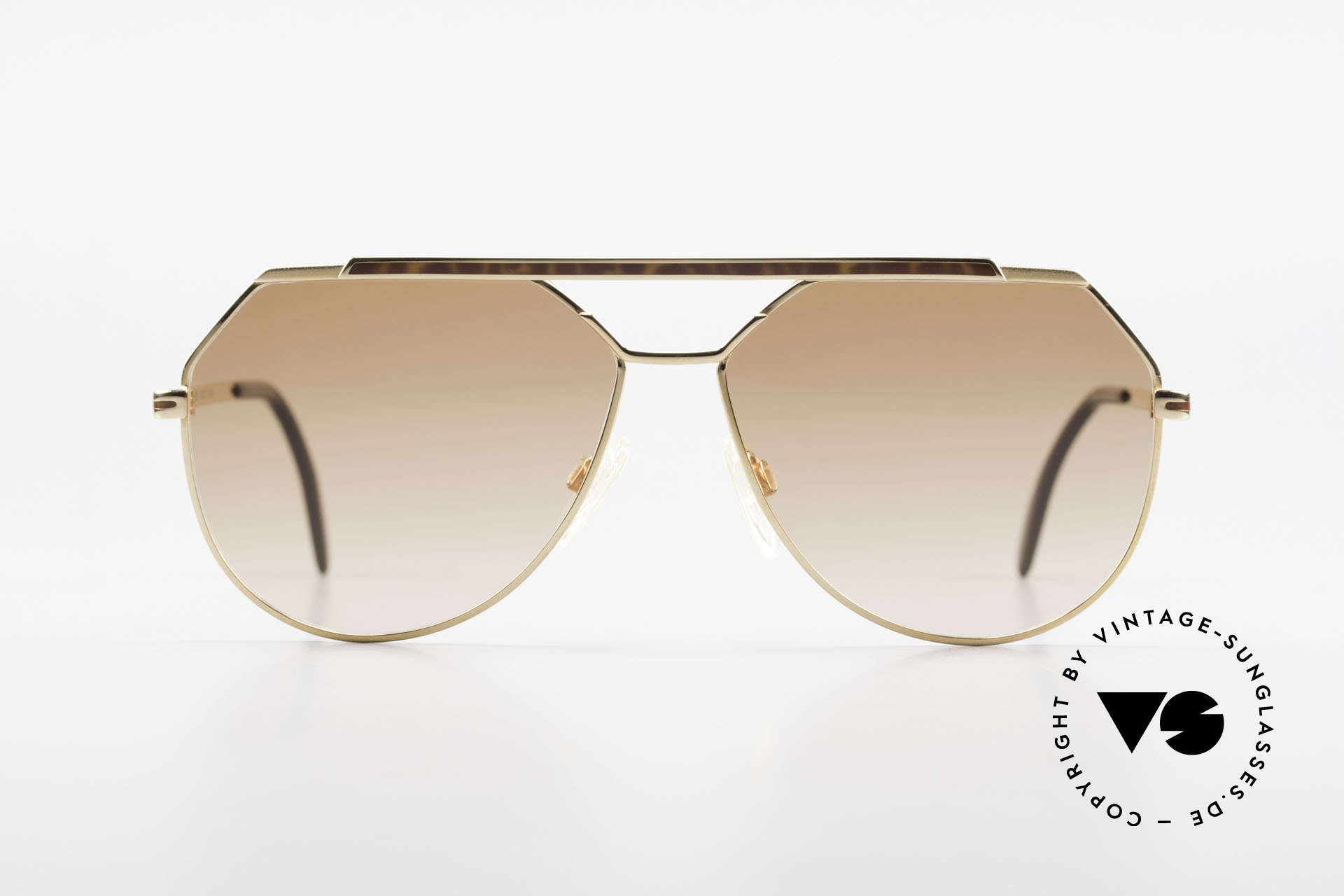 "Cazal 733 80's Men's Aviator Sunglasses, delicate double bridge & ""aviator"" design (truly 80's), Made for Men"