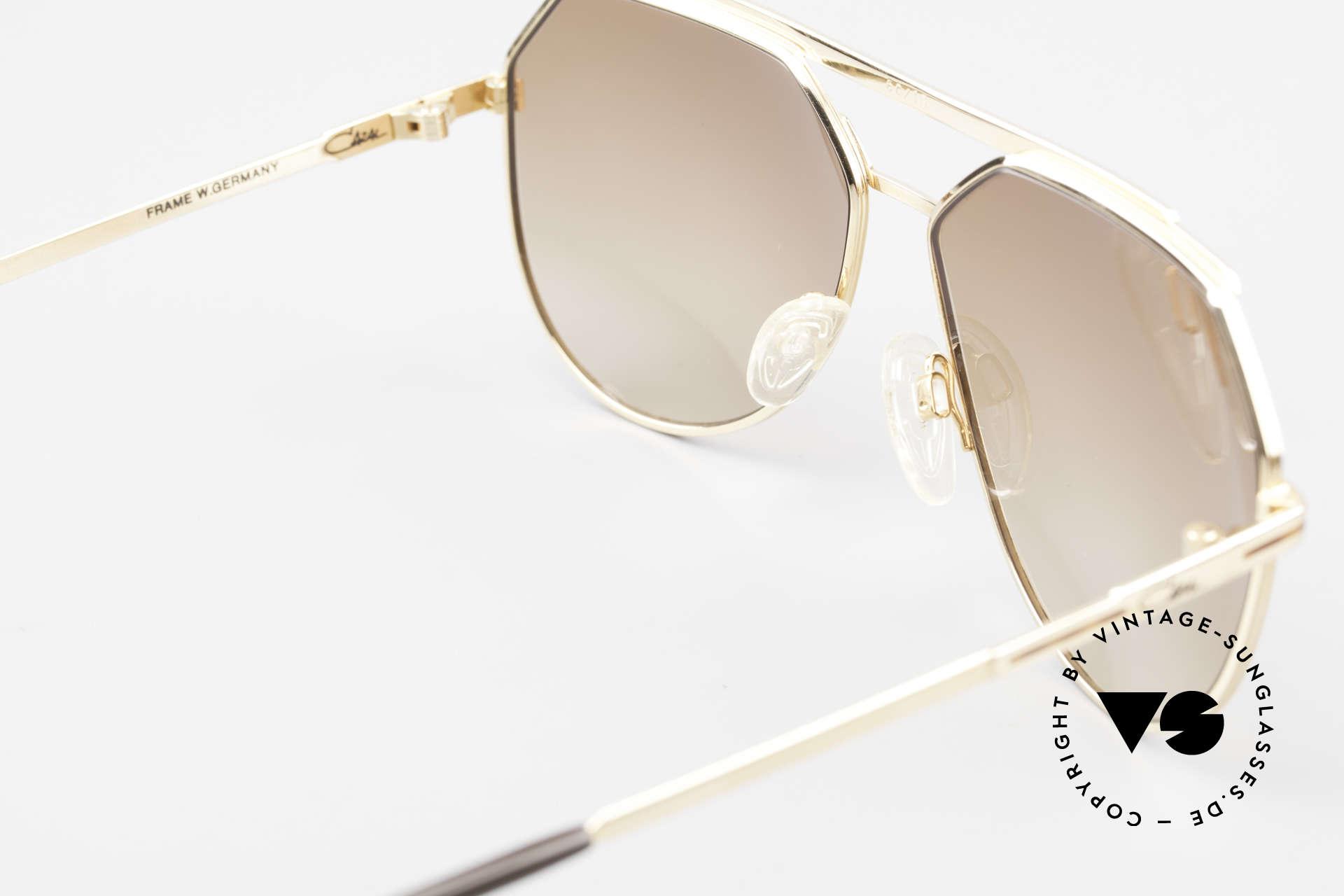 Cazal 733 80's Men's Aviator Sunglasses, brown-gradient sun lenses (for 100% UV protection), Made for Men