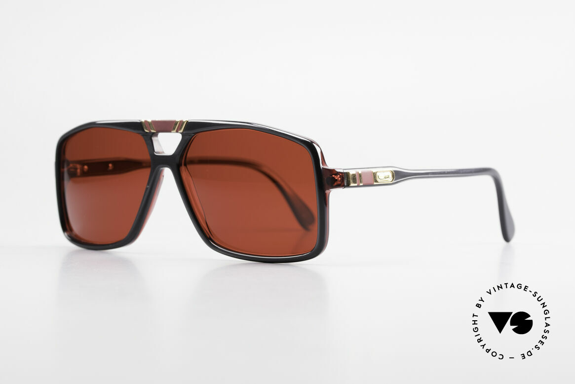 Cazal 637 80's Hip Hop Sunglasses 3D Red, part of the legendary US HipHop scene in the 80's, Made for Men