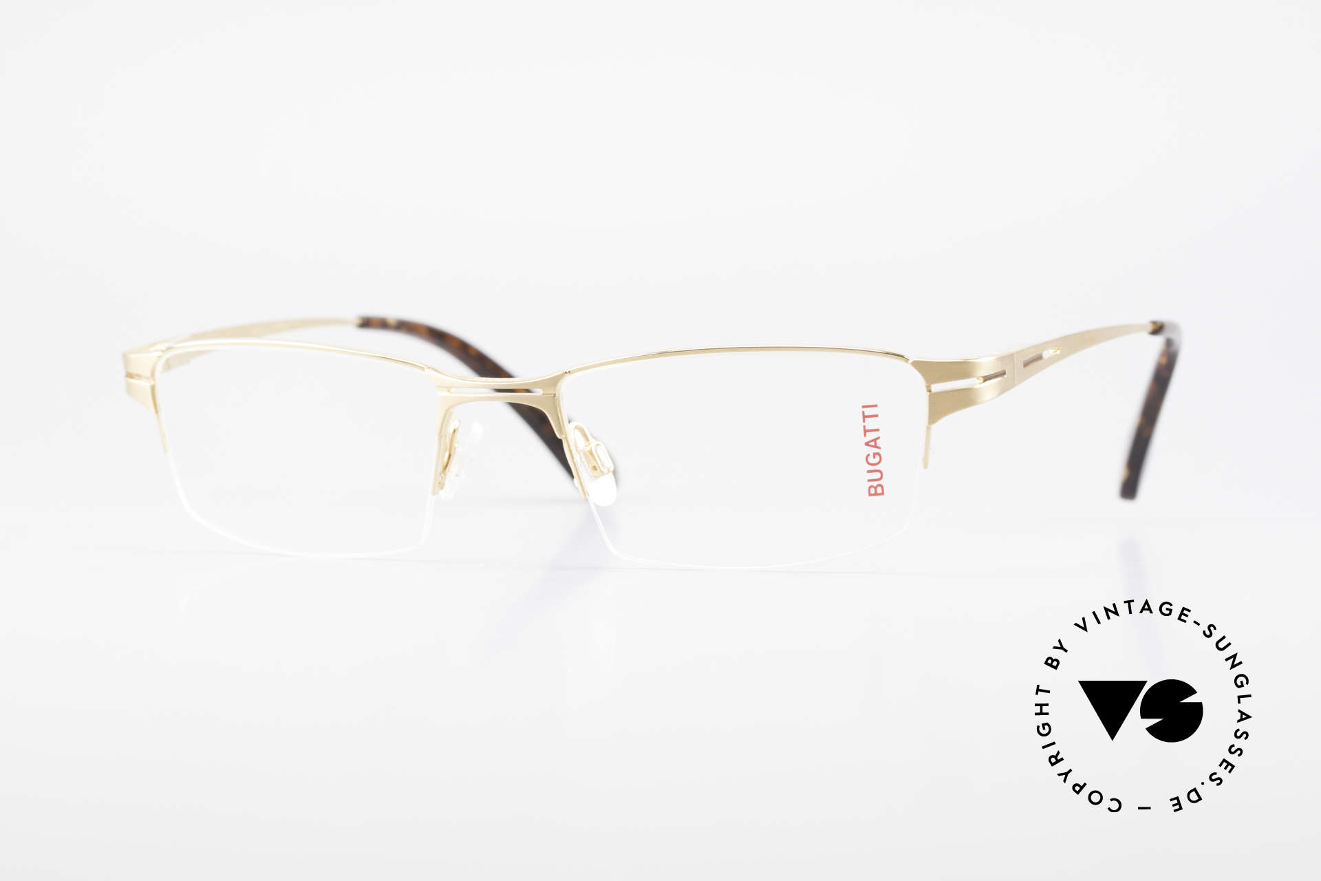 Bugatti 456 Nylor Titan Frame Gold-Plated, original, vintage NYLOR eyeglass-frame by Bugatti, Made for Men