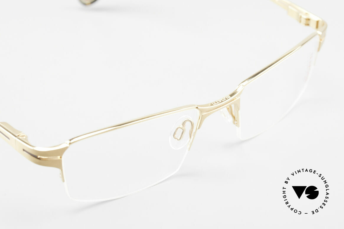 Bugatti 456 Nylor Titan Frame Gold-Plated, unworn (like all our rare vintage Bugatti eyeglasses), Made for Men