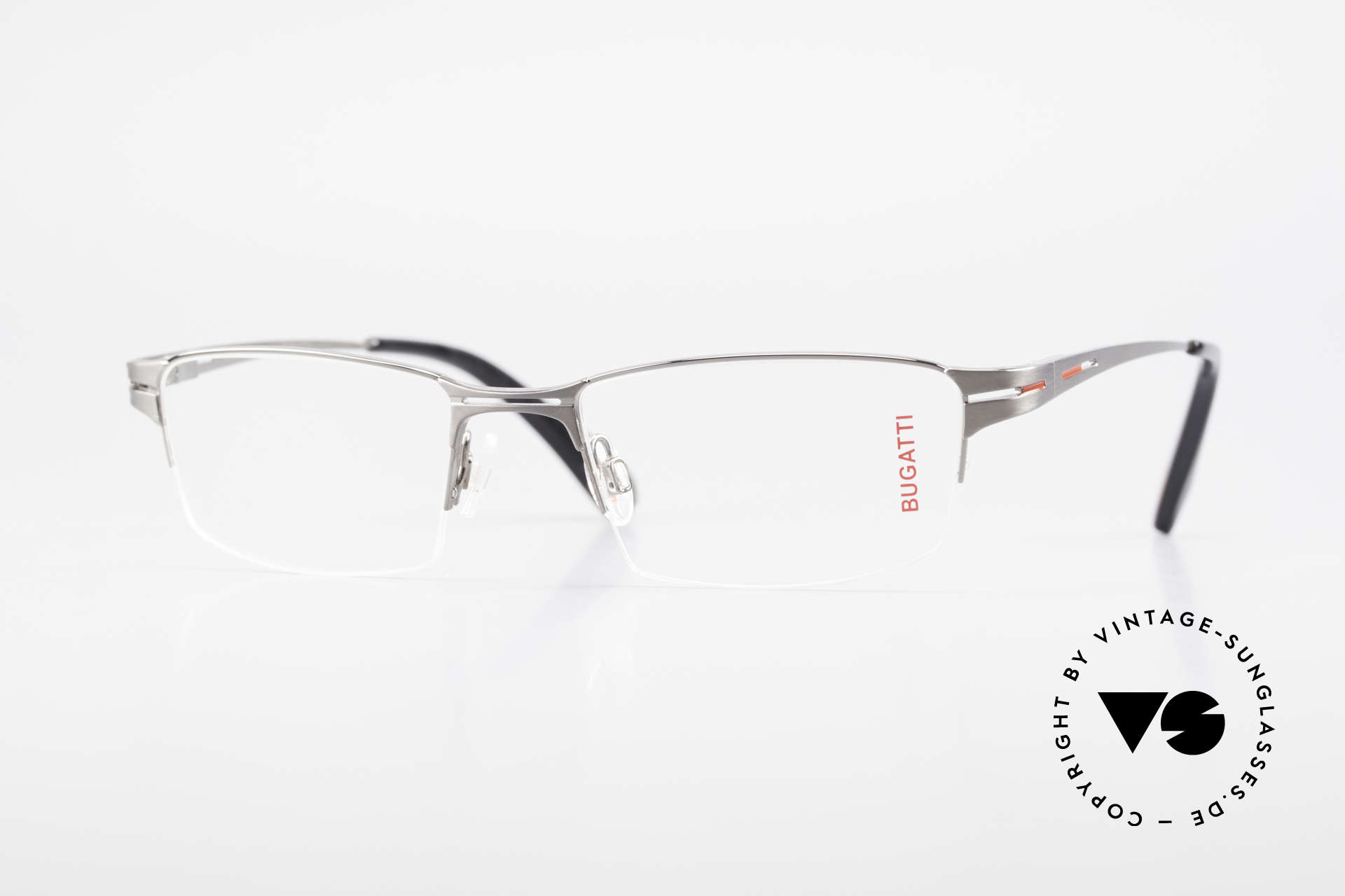 Bugatti 456 Nylor Titan Frame Ruthenium, original, vintage NYLOR eyeglass-frame by Bugatti, Made for Men
