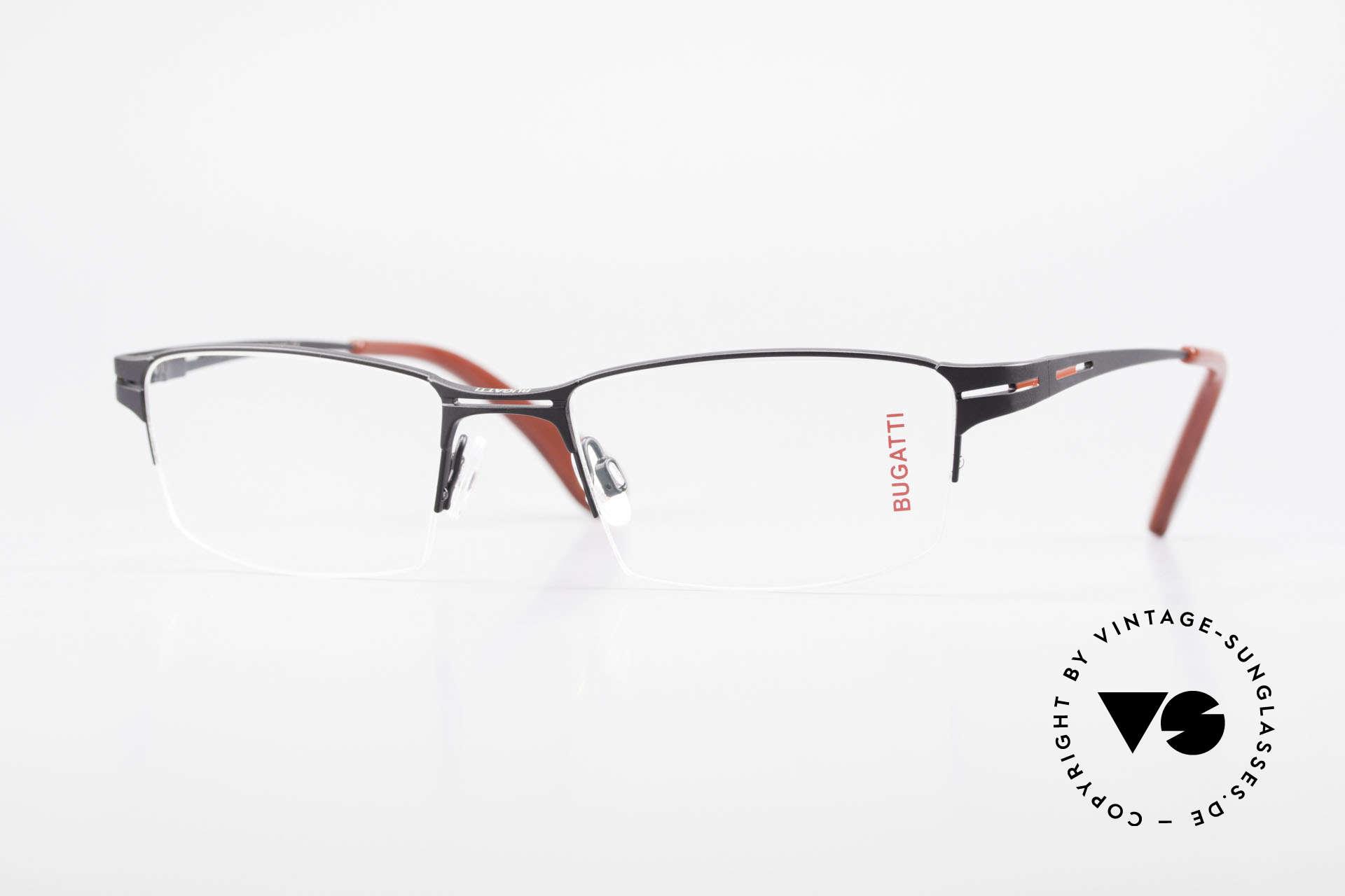 Bugatti 456 Titanium Eyeglass-Frame Nylor, original, vintage NYLOR eyeglass-frame by Bugatti, Made for Men