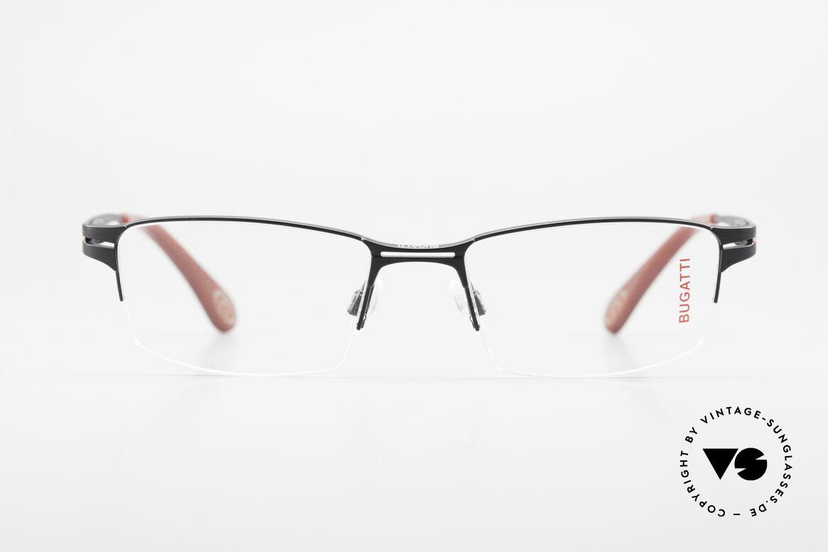 Bugatti 456 Titanium Eyeglass-Frame Nylor, titanium frame (XL size); striking masculine design, Made for Men
