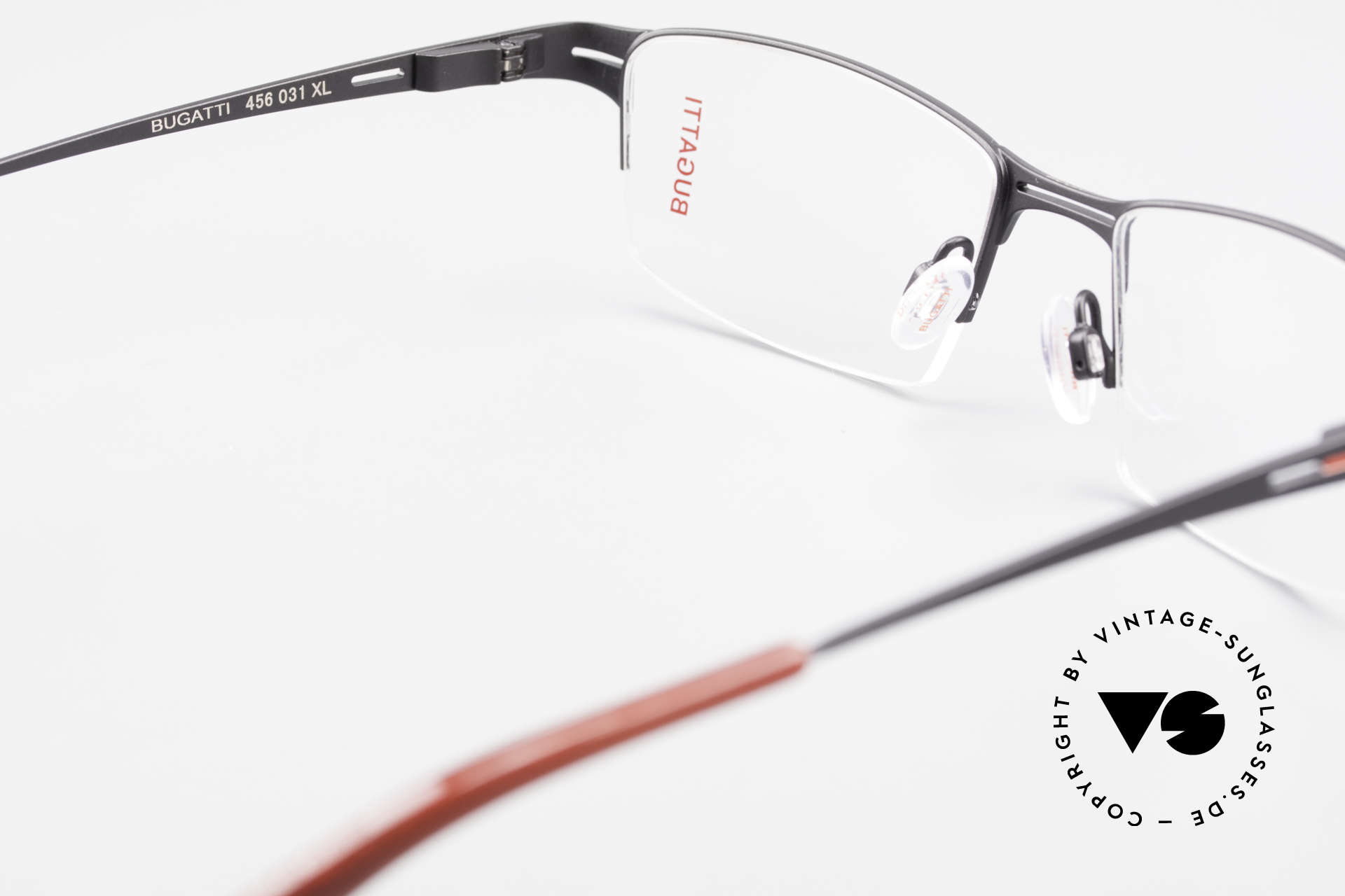 Bugatti 456 Titanium Eyeglass-Frame Nylor, NO RETRO specs, but an approx. 15 years old rarity, Made for Men