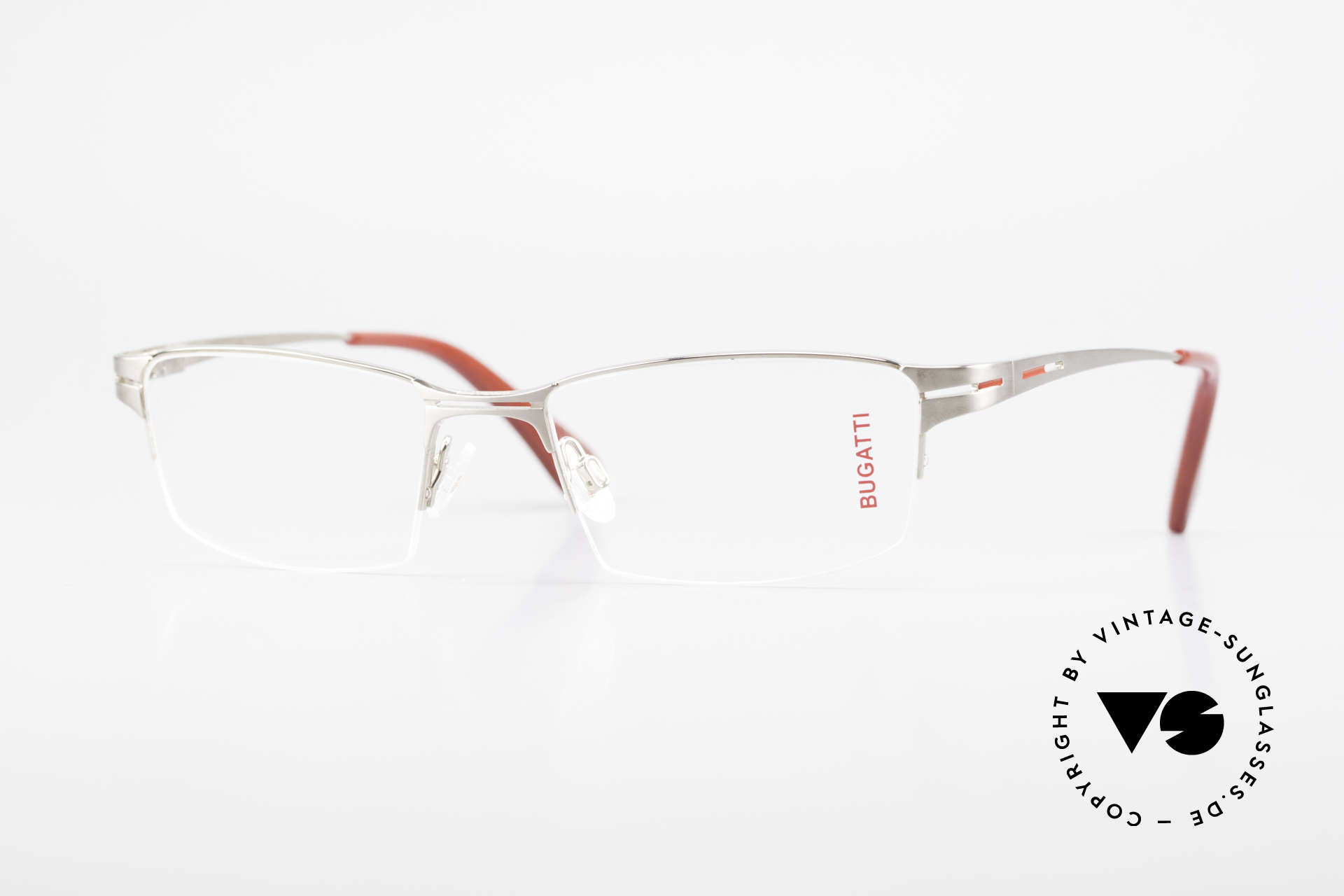 Bugatti 456 Nylor Titan Frame Palladium, original, vintage NYLOR eyeglass-frame by Bugatti, Made for Men