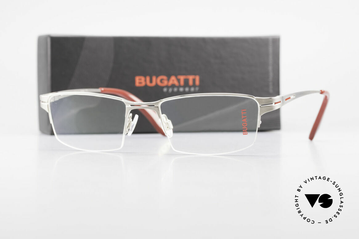 Bugatti 456 Nylor Titan Frame Palladium, Size: large, Made for Men