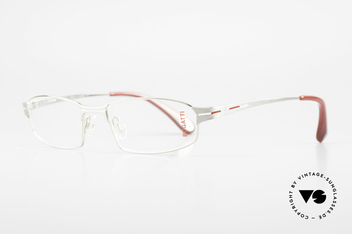Bugatti 455 Titanium Frame Satin Palladium, very comfortable fit (the model weighs 20g only), Made for Men