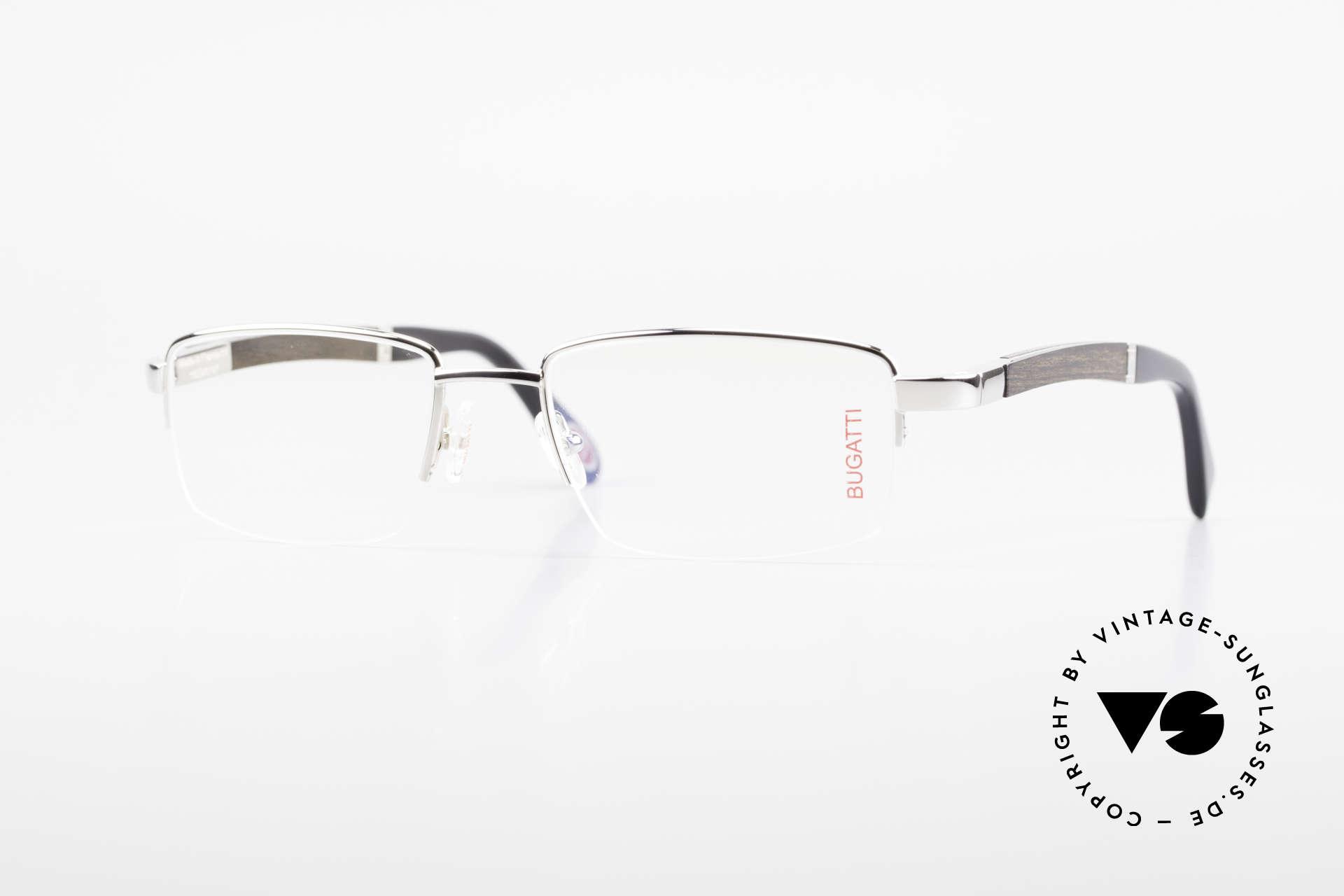 Bugatti 547 Precious Ebony Palladium M, BUGATTI vintage eyeglasses of incredible top-quality, Made for Men