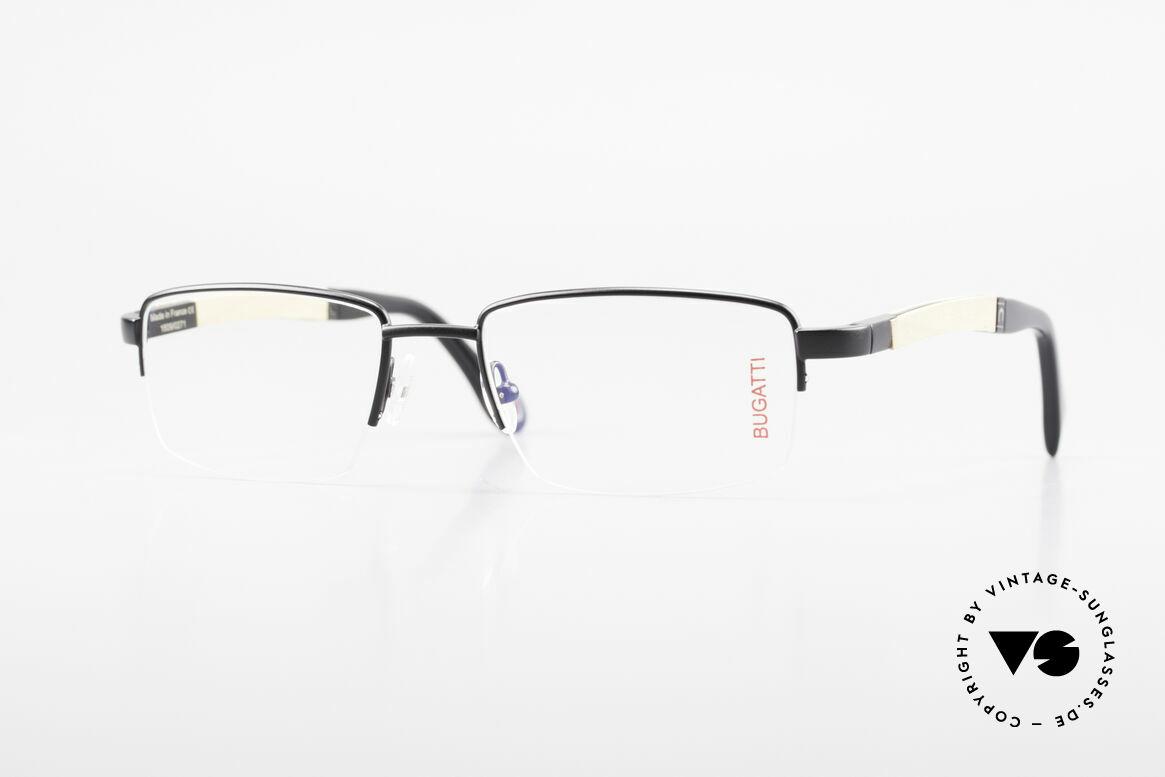 Bugatti 547 Walnut Wood Luxury Glasses M, BUGATTI vintage eyeglasses of incredible top-quality, Made for Men